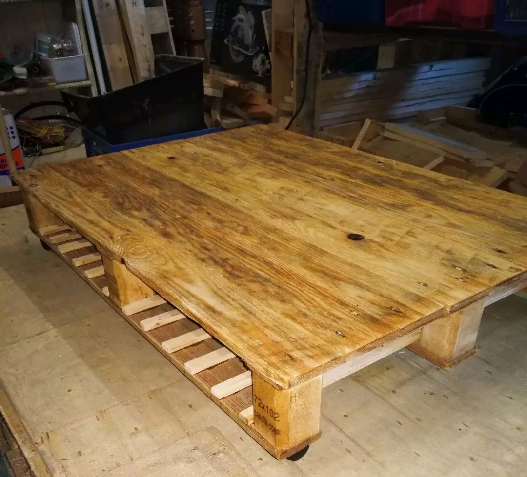 - Pallet Coffee Table With Underneath Storage. Prices Start At